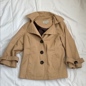 Tan Merona trench coat